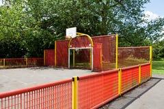 Basketdomstol Royaltyfria Bilder