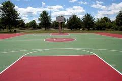 basketdomstol Arkivfoto
