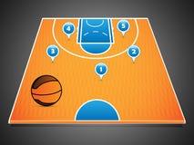 Basketdomstol vektor illustrationer