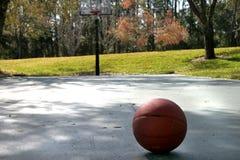 basketdomstol royaltyfri fotografi