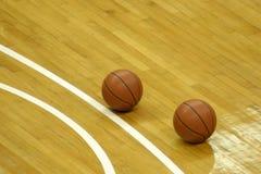 basketdomstol royaltyfri bild