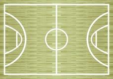 Basketdomstol för att designplan ska spela Fotografering för Bildbyråer