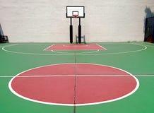 basketdomstol om illustration royaltyfri bild