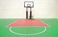 basketdomstol om illustration arkivfoto