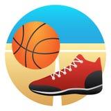 basketdomstol om illustration Royaltyfria Foton
