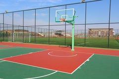 basketdomstol om illustration Fotografering för Bildbyråer