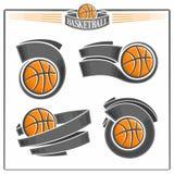 Basketemblem Fotografering för Bildbyråer
