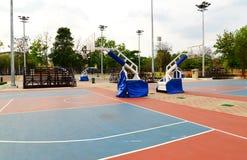 Basketfält Arkivbild