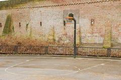 Basketfält nära stadsförsvarväggen Royaltyfria Bilder