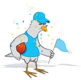basketfågelventilator Arkivbild