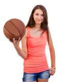 Basketflicka Fotografering för Bildbyråer