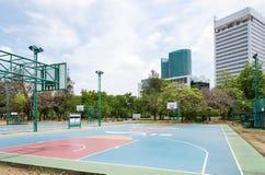 Basketfält Fotografering för Bildbyråer