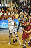 basketfrance match Royaltyfri Bild