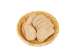 Basketful of bread Stock Image