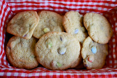 Basketful of Cookies Stock Photo