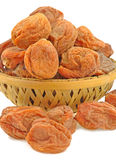 Basketful of dried apricot Royalty Free Stock Images
