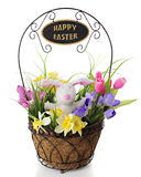 Basketful of Easter Greetings Royalty Free Stock Image