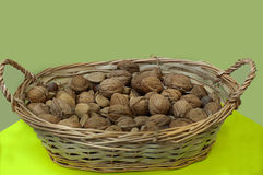 Basketful of Mixed Nuts Royalty Free Stock Photos
