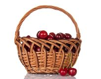 Basketful of ripe sweet cherry Royalty Free Stock Photo