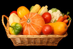 Basketful of vegetables Stock Image