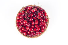 Basketfull of cherries Stock Photo