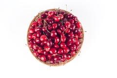 Basketfull Of Cherries Stock Photo