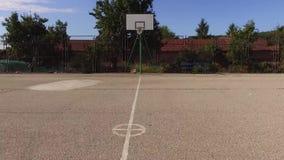 Basketjordningsflyg över lager videofilmer