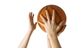 Basketkvarter Arkivbild