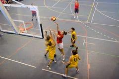 basketkvinnor Royaltyfri Fotografi