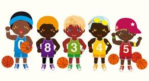 basketlagar royaltyfri illustrationer
