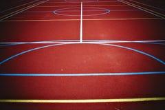 basketlekplats Arkivbild