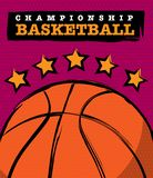 basketmästerskapdesign royaltyfri foto