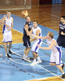 basketmatch Arkivbilder