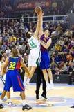 Basketmatch Arkivfoto