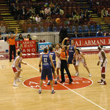 basketmatch Royaltyfria Bilder