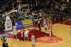 basketmatch Fotografering för Bildbyråer