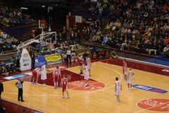 basketmatch Arkivbild