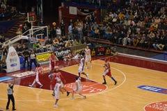 basketmatch Royaltyfria Foton