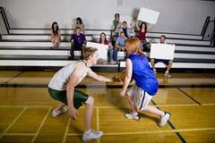 basketmatch Royaltyfria Bilder