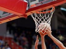 Basketmatch Royaltyfri Foto
