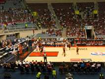 Basketmatch, final fyra, Rio De Janeiro Royaltyfri Foto