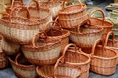Basketry basketwork Spain enea esparto basket Stock Photos