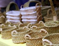 Basketry basketwork Spain enea esparto basket Stock Photo