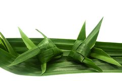 This is a basketry made of pandan leaves, which is the wisdom of Thailand royalty free stock images