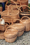 Basketry On Nature Royalty Free Stock Photo
