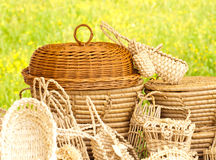 Basketry On Nature Stock Photo