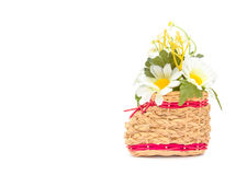 Basketry Shoes with Artificial chrysanthemum flower Stock Photography