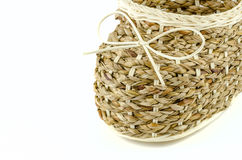 Basketry Shoes on isolated background Royalty Free Stock Photos