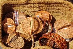 Basketry traditional handcraft in spain Royalty Free Stock Images