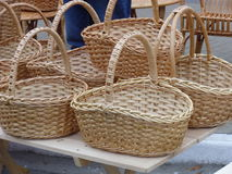 Basketry from vines Stock Image